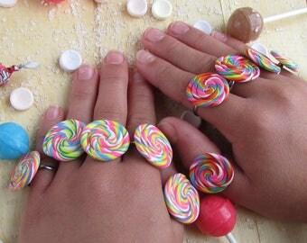 Lollipop Ring Party Favors, Lollipop Rings, Sweet Shop Favors, Candy Party Favors, Ring Party Favors, Lollipop Favors, Girls Party Favors
