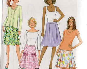 Butterick Fast & Easy Pattern 4519 PLEATED SKIRTS  Misses Sizes 16 18 20 22