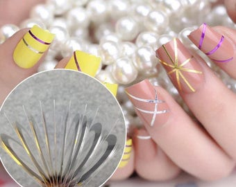 Metallic Nail Stripping Tape 1 gold 1 silver