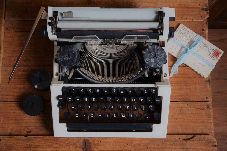steampunk office decor. Vintage Typewriter Orteh PP-215-09, Desktop Typing Machine, Ribbons, Steampunk Office Decor S