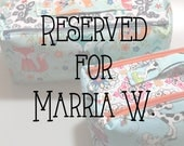 RESERVED for Marria W. // 2 Zip Boxy Pouch // Zipper Project Bag // Dopp Kit // Double Zipper Toiletry Bag // Knitting Project Bag