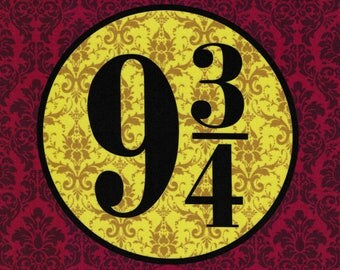 Nine & Three-quarters: Harry Potter fabric print