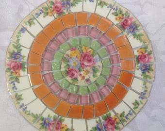 China mosaic tiles~~Shades of Late Summer Blooms