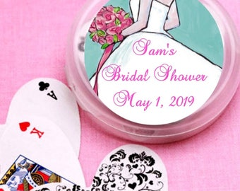 12 Blue Bride Bridal Shower and Wedding Deck of Cards Favors