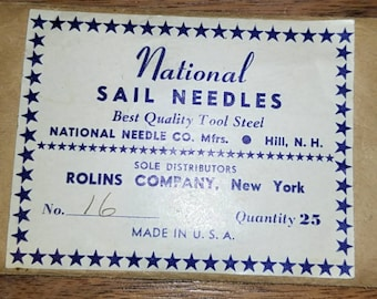 Four vintage sail needles, various sizes