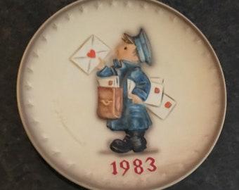 """1983 Hummel Plate """"Postman"""" by Goebel"""