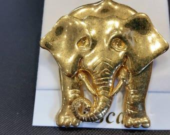 La Scala Elephant brooch.  Gold Plated Canadian