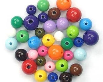 10 x mixed beads 14-20mm assorted colors and sizes