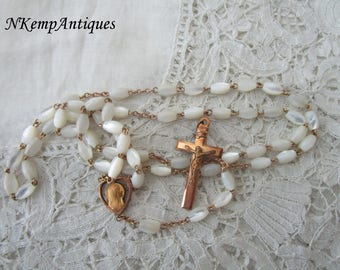 Antique rosary 1910 Mother of pearl