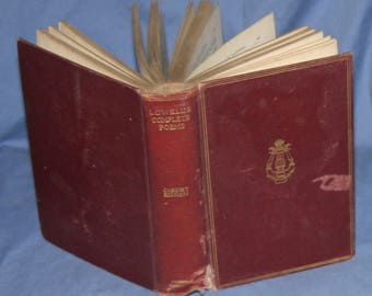 Antique poetry book:  Lowell's Complete Poems, Cabinent Edition, 1902