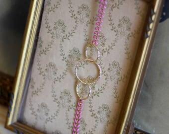 Head jewel gold elastic 3 circles