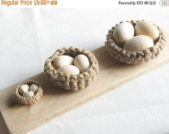 SALE 30% OFF Rustic birds nests / wedding / Easter decor