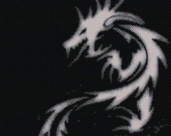 Dragon beadwork peyote tapestry pattern