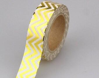 Washi tape - Masking tape - Gold Masking tape - chevron gold - 10 meters