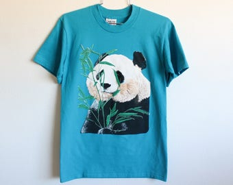 MEDIUM Vintage 1990s Panda (Thick Graphic) T-Shirt