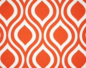 Orange Fabric Tangerine YARD Premier Prints Emily Tangelo slub cotton home decor Upholstery curtains pillows SHIPsFAST