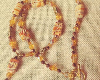 Handmade Goldtone Necklace