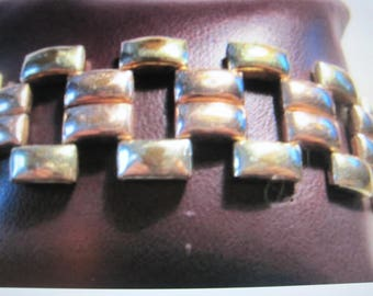 antique / vintage bracelet,...pink and yellow gold filled.....