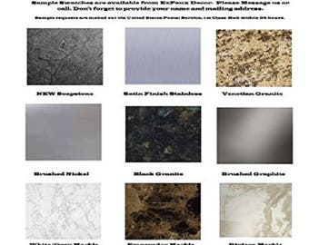 Marble Granite Bubble Resistant Peel and Stick Self Adhesive PVC Film Sample Pack