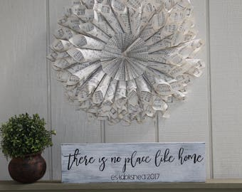 First Home Sign, First Home, Rustic Home Sign,Realtor Gift,Realtor Closing Gift,First Home Gift,There Is No Place Like Home,Custom Home Sign