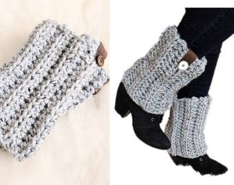Leg warmers womens, boot cuffs, boot covers,  mens leg warmers boot cuffs, chunky knit leg warmers, Ankle Warmers, wool blend leg warmers.
