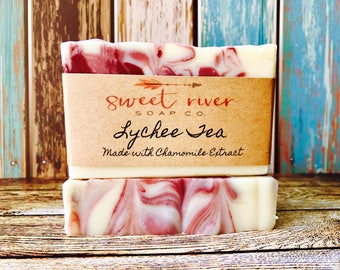 Lychee Red Tea Goats Milk Soap, Farm Soap, Sweet River Farm, Sweet River Soap Co