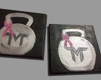 Custom Kettlebell Painting Mini Canvas'