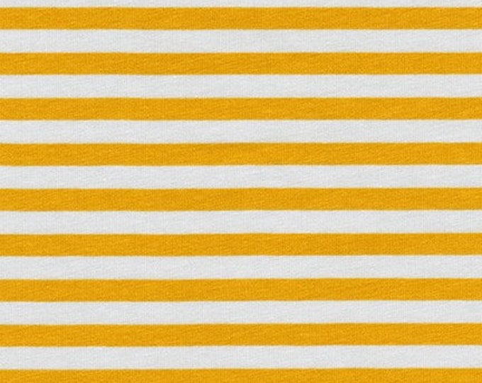 Stripes in Silver- Blake Cotton Knit by Carolyn Friedlander- Robert Kaufman