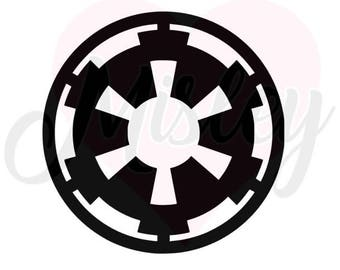 Star Wars Imperial Cog Emblem SVG, PNG, and STUDIO3 Cut Files for Silhouette Cameo/Portrait and Cricut Explore DIY Craft Cutters
