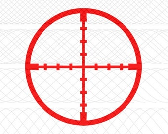 Crosshairs SVG, PNG, and STUDIO3 Cut Files for Silhouette Cameo/Portrait and Cricut Explore DIY Craft Cutters