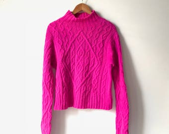 Hand dyed vintage wool fisherman's sweater