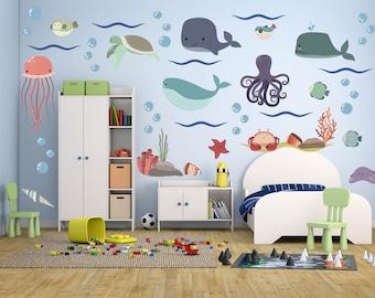 Ocean Theme Decor, Ocean Wall Decals, Ocean Nursery, Ocean Nursery Decor,  Ocean Part 78