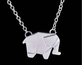 Good Luck necklace with silver plated elephant as a gift