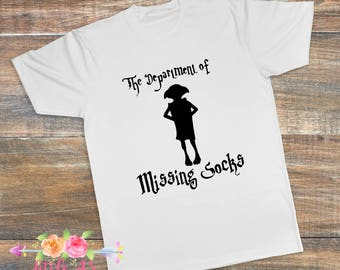 Dobbie, Department of missing socks, House elf, Dobbie is a free elf, HP, Boys shirt, Mens shirt