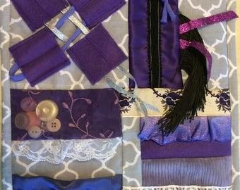 Mini Fidget Quilt / Sensory Blanket - Lavender Bliss