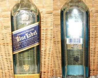 JOHNNIE WALKER Blue or Gold Scotch Whiskey 750ml empty recycled liquor bottle for crafts