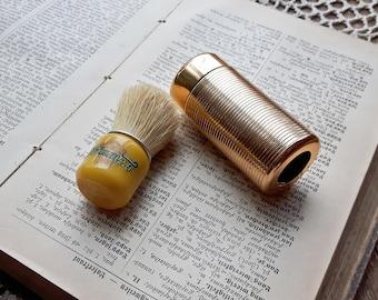 Vintage butterscotch Shaving Brush Triumph, Travel Shaving Brush, Made in Czechoslovakia, unused