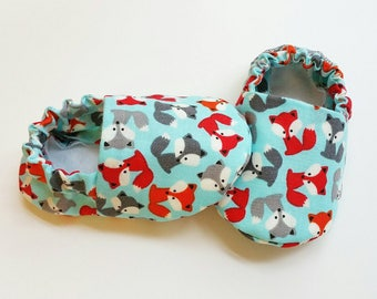Baby Booties, Baby Gifts, Fox Baby Slippers, Baby Crib Shoes, Baby Moccs, Baby Shoes, Fox Baby Shoes, Animal Baby Slippers, Fox Baby Booties