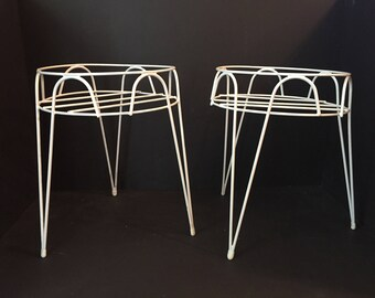Pair of Mid Centru Plant Stands