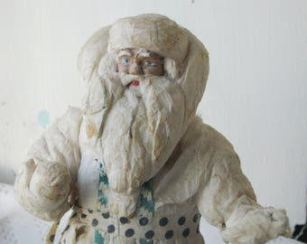 Antique Christmas cotton figure of Santa (Father Frost) - Vintage Soviet Santa- Christmas Decoration - Soviet Vintage
