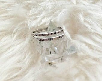 Stamped Stacker Rings Sterling Silver