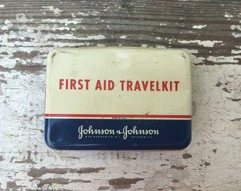 Vintage Johnson and Johnson First Aid Kit