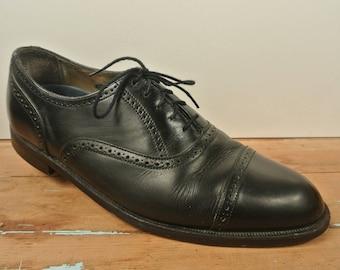 Florsheim Imperial Black Cap Toe Balmoral Men's Size: 9.5D