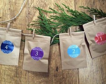 Tea Advent Calendar, Tea Gift Set, Christmas Gift, Christmas Countdown, tea packets, Indvidual teas, Tea lover