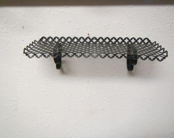decorative metal wall shelf black shelf 14 inch long by 5 inches deep