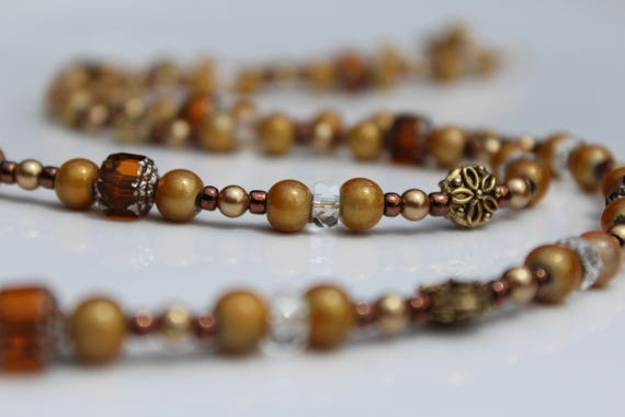 Golden Brown Autumn Wheat Necklace