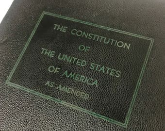 Vintage Book - US Constitution as Ammended 1938