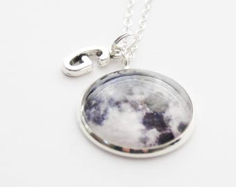 Full Moon Necklace, LARGE Moon Pendant Necklace, Moon Jewelry, Space Jewelry, Full Moon, Space Jewelry, Moon Accessories, Moon pendant