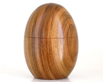 Large Egg Box Turned in Hububalli with Magnetic Lid