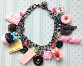 "Bracelet with charms ""Vanychoco treats"""